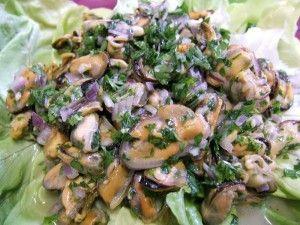 ensalada de mejillones