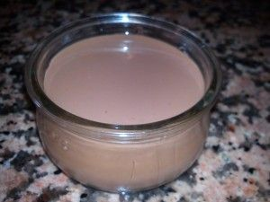 yogur de chocolate