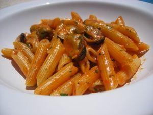 pasta con mejillones