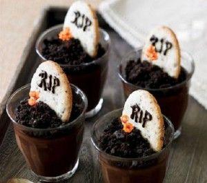 Galletas para Halloween: tumbas de chocolate