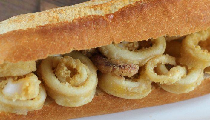 Receta de sándwich de calamar